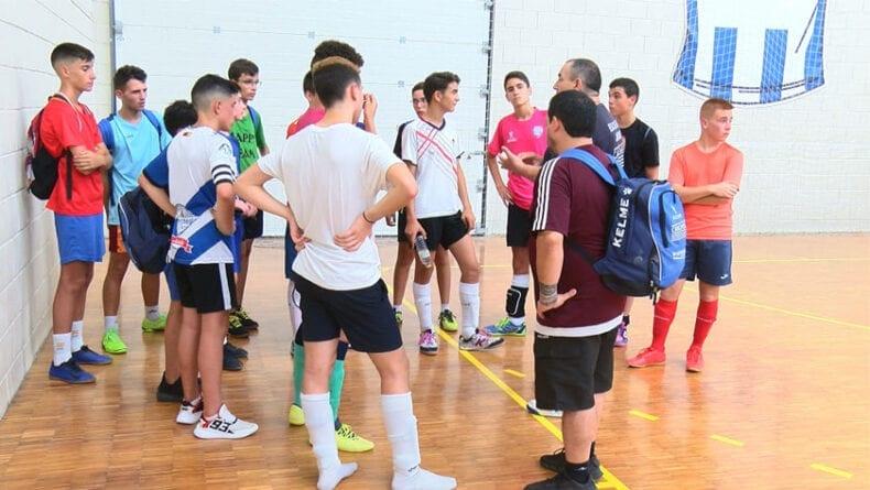 Pruebas de captación de jugadores para la Escuela de Fútbol Sala Base Jumilla Bodegas Carchelo
