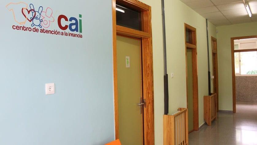Siete plazas vacantes en el CAI para menores de 4 meses a 3 años