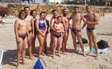 La tercera prueba de la Liga Regional de Aguas Abiertas se caracterizó por el fuerte oleaje