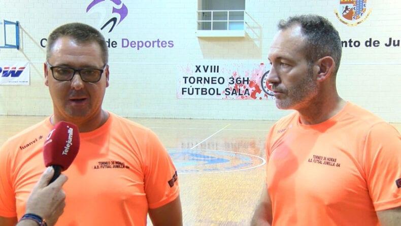 Vicente López y José Juan Romero de la AD Futsal Jumilla 04, organizadores del torneo