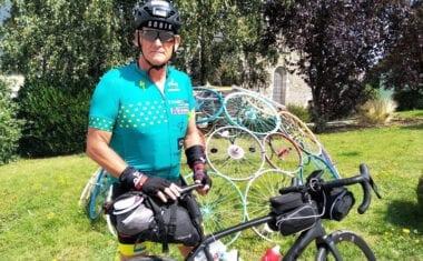El jumillano José García Cerezo completa una de las pruebas cicloturistas de larga distancia más duras del mundo