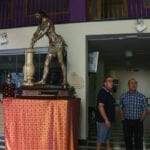 El Cristo Amarrado a la Columna ya se encuentra en la sede de la Hermandad para su restauración