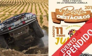 Suspendida la I Pista de Obstáculos 4×4 2019 del Club Ocio y Aventura