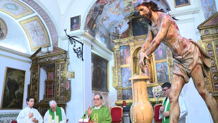 Misa de despedida en el Convento de Santa Ana