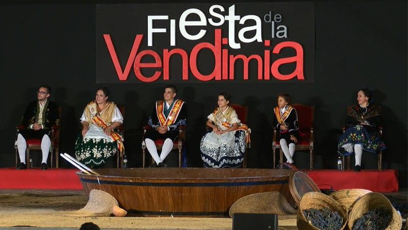 Presidieron el acto los cargos festeros de la 48 Fiesta de la Vendimia y el presidente de la Federación de Peñas