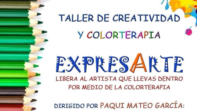 """Taller de creatividad y colorterapia """"Expresarte"""" en la Casa del Artesano"""