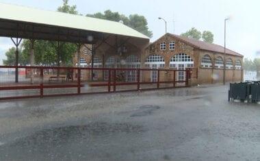 Una tormenta anegó las calles de Jumilla