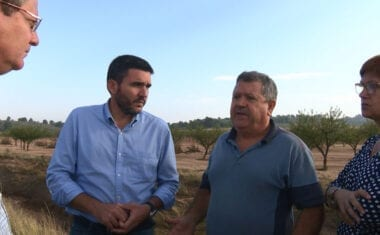 El consejero de Agricultura ha comprobado de primera mano el ruinoso estado de las explotaciones agrarias afectadas por el temporal