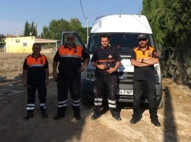 Protección Civil Jumilla ayuda en Lorquí