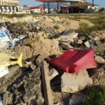 Ciudadanos Jumilla solicita que se retiren los escombros en el lateral de la Plaza del Camionero