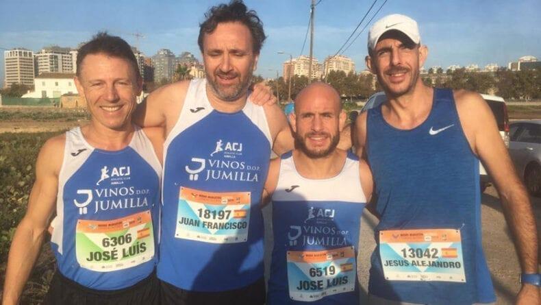 Cara y cruz para los atletas del Athletic Club Vinos DOP Jumilla en la 29 Media Maratón de Valencia