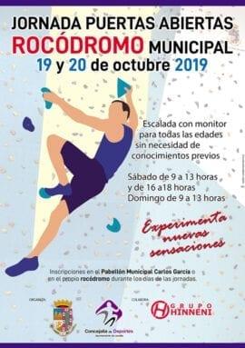 Cartel de la actividad organizada por la Concejalía de Deportes con la colaboración del Grupo Hinneni
