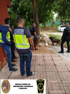 En la operación Arcángel han intervenido efectivos del Cuerpo Nacional de Policía y la Unidad K9 de la Policía Local de Jumilla