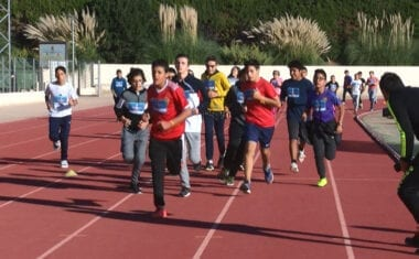 Los alumnos del Instituto Infanta Elena corren para acabar con la leucemia infantil