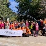 La Marcha Solidaria Ruta de la Cingla organizada por ADAHI Jumilla se realiza a pesar del fuerte viento