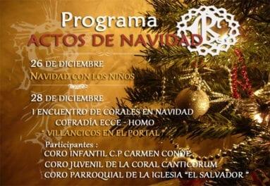 Actos programados para esta Navidad