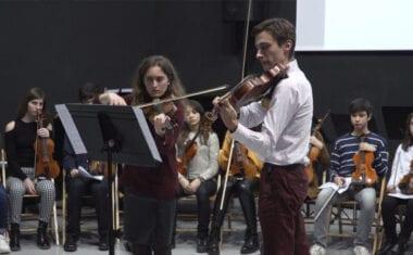 Intercambio de Aulas de Cuerda para celebrar Santa Cecilia en la Escuela y Conservatorio de Música de Jumilla