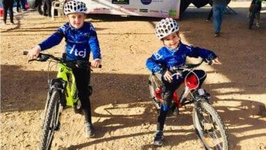 Mario Toral y Lucas Alonso en la cita de Molina de Segura del Campeonato Regional de Ciclocross