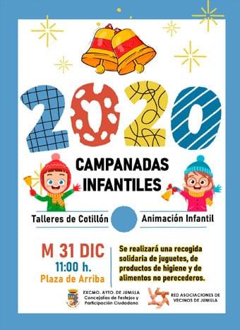 Cartel de las campanadas infantiles 2019 en Jumilla