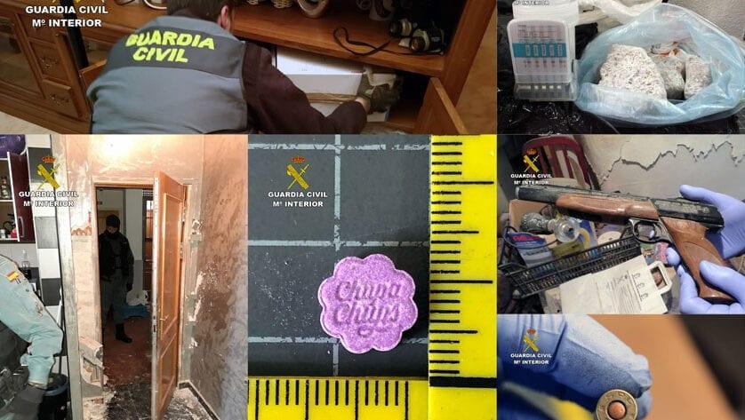 La Guardia Civil desmantela un grupo delictivo en el Altiplano dedicado a la producción y distribución de drogas