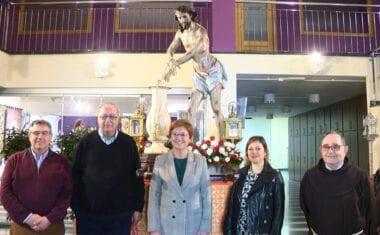 La imagen del Cristo Amarrado a la Columna luce como recién sacada del taller del maestro Salzillo