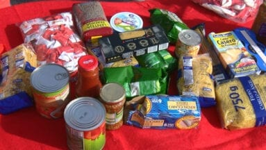 Recogida solidaria de alimentos