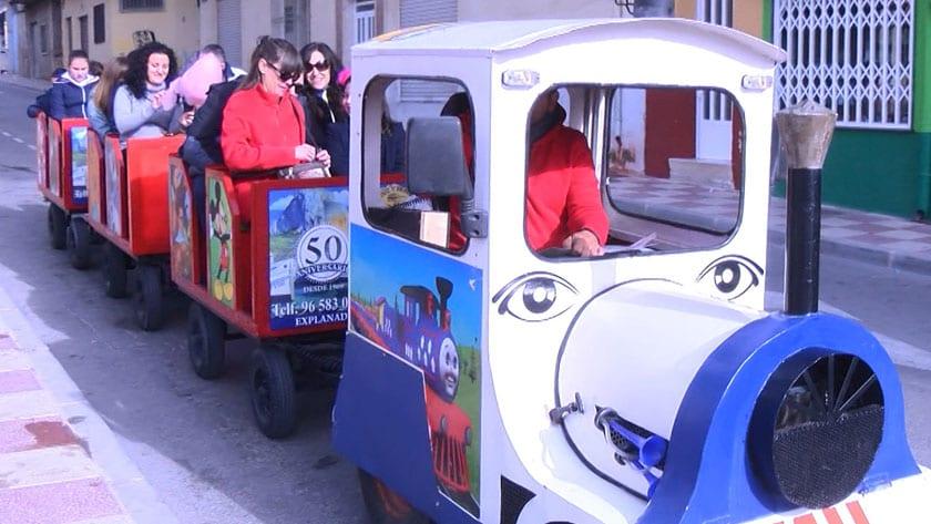 Tren turístico en la Fiesta del Comercio Jumillano