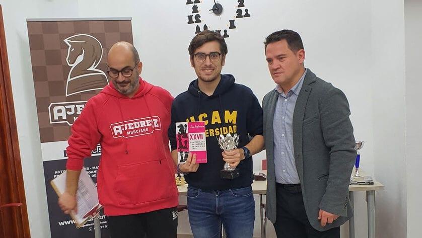 Victoria y podio para el Club Ajedrez Coimbra en el III Torneo Navideño Ajedrez Murciano