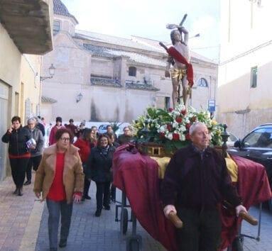 San Sebastián a su regreso de la Iglesia Mayor de Santiago