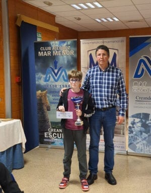 Mejor jugador sub-12: Carlos Molina del Club Ajedrez Coimbra