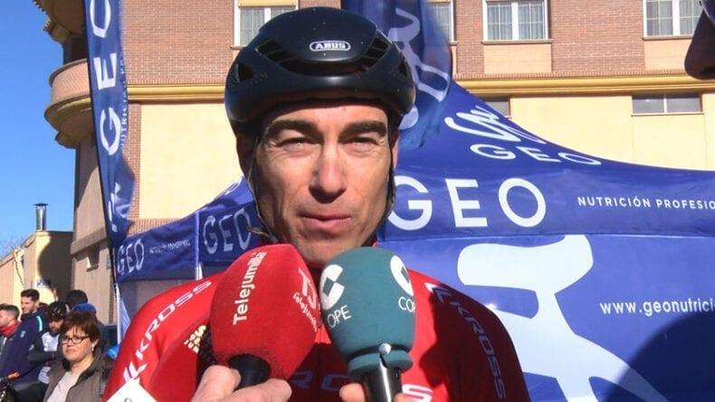 Sergio Mantecón tras su llegada a meta