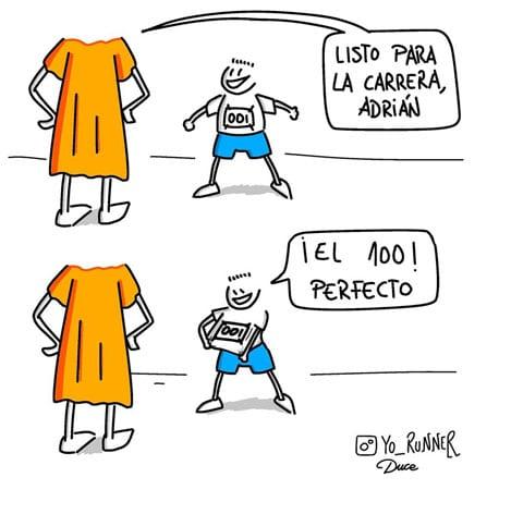 Dibujo de Yo Runner como homenaje a Adrián