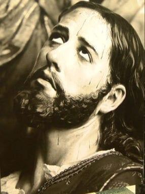 En esta fotografía queda plasmada la expresividad de la imagen de Salzillo