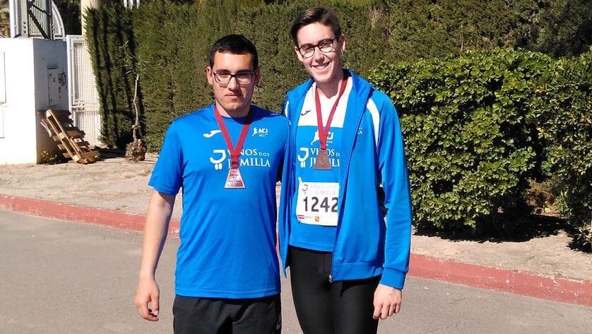 Dos medallas para el Athletic Club Vinos DOP Jumilla en el Campeonato Regional sub-18 de Pista Cubierta
