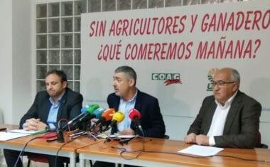 Las organizaciones agrarias Asaja, Coag y UPA se unen para ir a Murcia a exigir soluciones