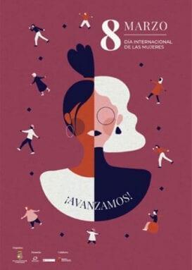 Cartel conmemorativo del Día Internacional de la Mujer 8M