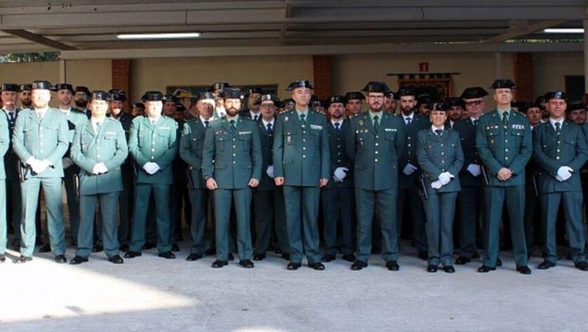 80 guardias civiles se incorporan a distintas unidades en la Región de Murcia