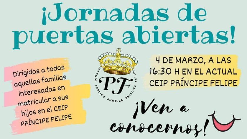 Jornada de puertas abiertas en el CEIP Príncipe Felipe para dar a conocer su oferta educativa