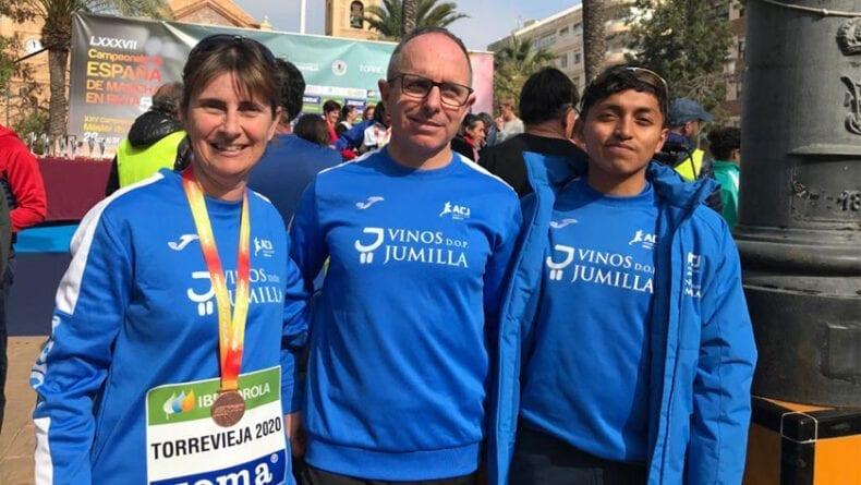 Los tres atletas del Athletic Club Vinos DOP Jumilla en los Nacionales de Torrevieja
