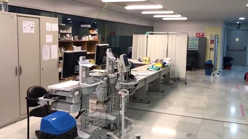 Todo preparado en el Hospital Virgen del Castillo de Yecla ante un posible aumento de casos de coronavirus en los próximos días