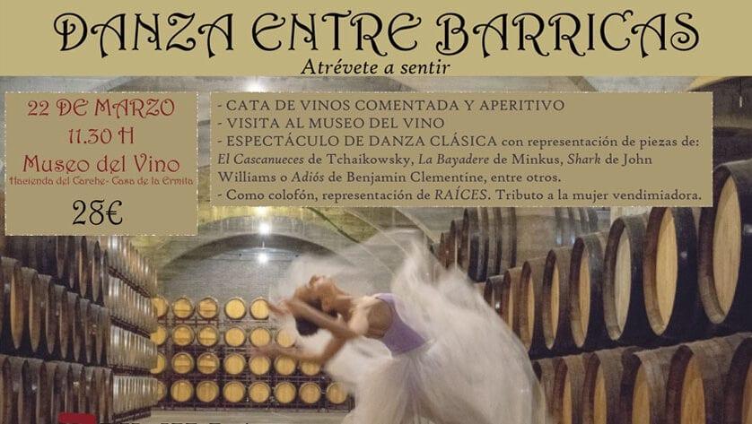 "La Ruta del Vino presenta ""Danza entre Barricas"""