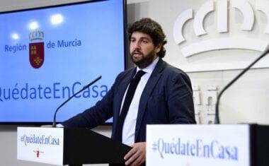 """López Miras reclama a Sánchez que """"en el objetivo común de vencer al Covid-19 faltan los medios para lograrlo, que son lo más importante"""""""
