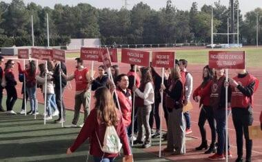 Los alumnos de 2º de Bachillerato del IES Arzobispo Lozano estudian la oferta educativa de la Universidad de Murcia