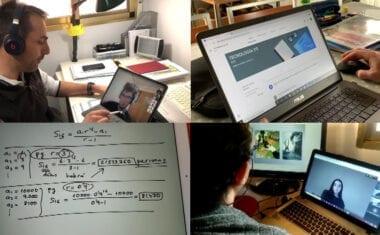 Los alumnos asisten a clases virtuales y reciben apoyo de sus profesores desde casa