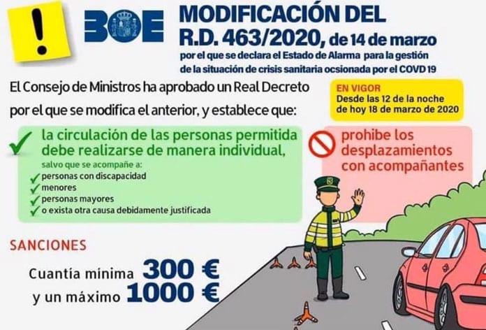 Nuevas medidas para limitar el número de ocupantes en los vehículos