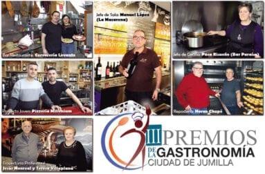 Premiados en esta III Edición de los Premios de la Gastronomía Ciudad de Jumilla
