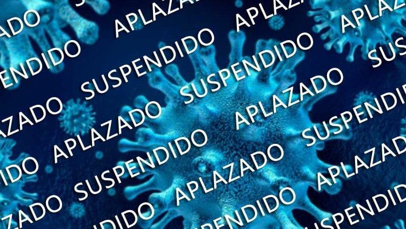 Las suspensiones y los aplazamientos de todo tipo de actos públicos se van sucediendo en cadena a causa del coronavirus