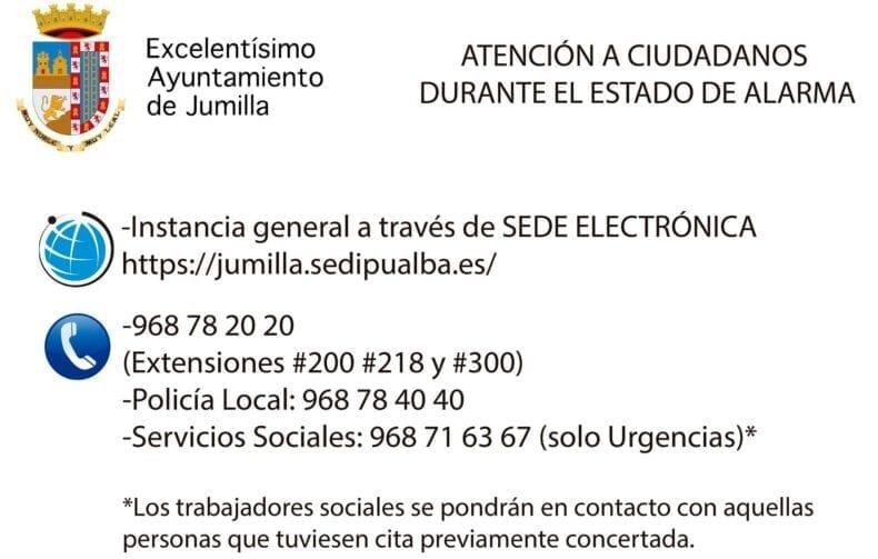 Teléfonos de interés Ayuntamiento de Jumilla