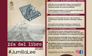 Cultura propone varias actividades por el Día del Libro con el lema #JumillaLee