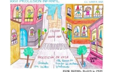El Colegio Concertado Santa Ana realizará su XXVI Procesión Infantil desde casa